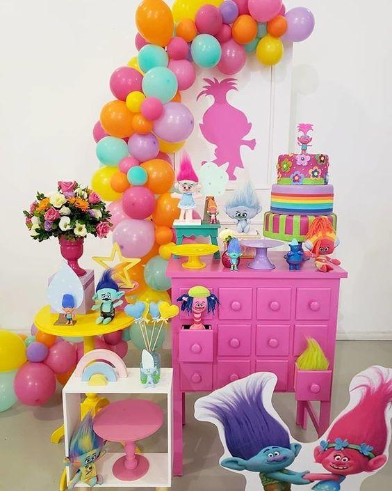 festa trolls decoracao 3