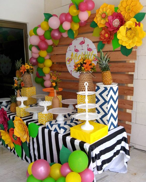 festa tropical infantil decoracao