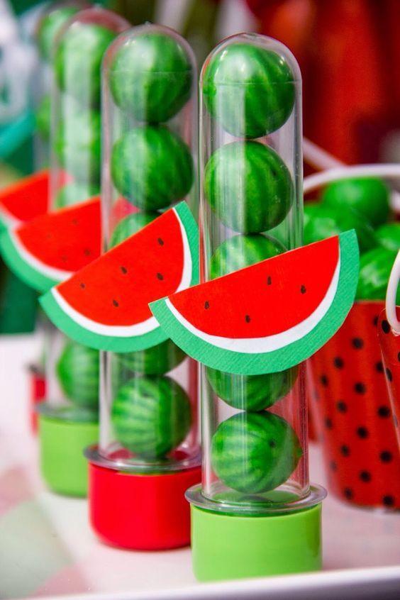 festa tropical lembrancinha melancia