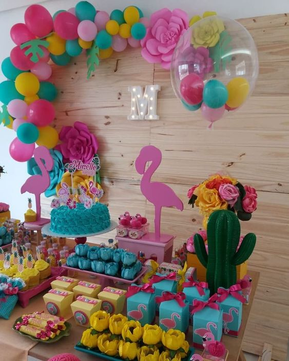 festa tropical painel