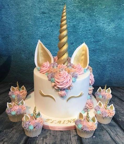 festa unicornio bolo