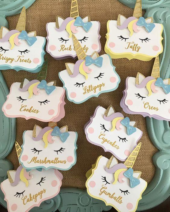 festa unicornio convite ideias