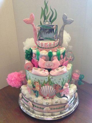 ideias criativas cha bebe bolo fraldas fundo mar