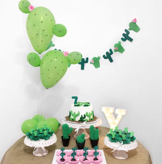 ideias decoracao mesversario cactus