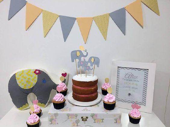 ideias decoracao mesversario elefante