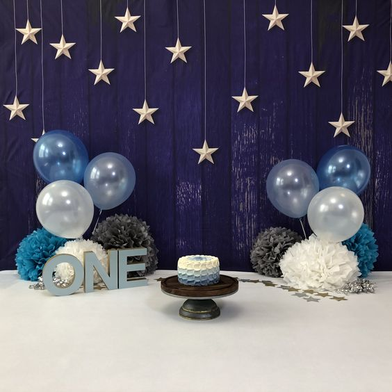 ideias decoracao mesversario estrelas
