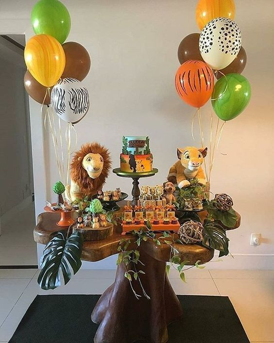 ideias decoracao mesversario menino selva