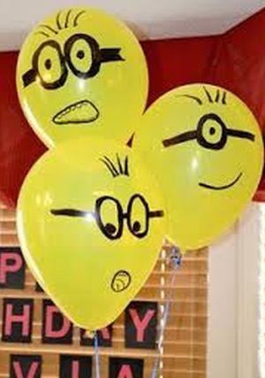ideias festa minions baloes