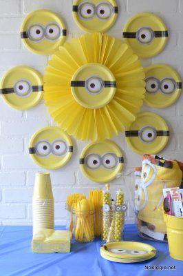 ideias festa minions parede