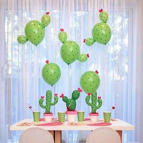 ideias para festa cactos baloes 2