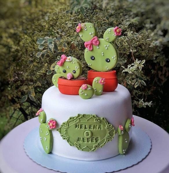 ideias para festa cactos bolo