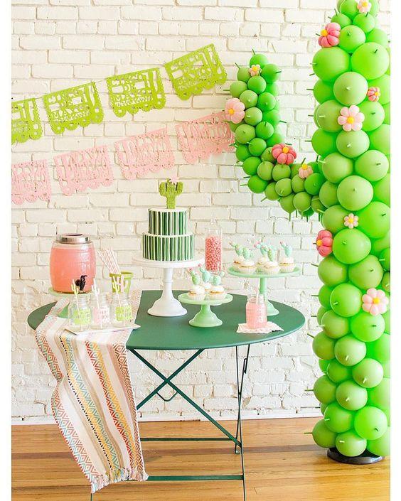 ideias para festa cactos decoracao adulto minimalista