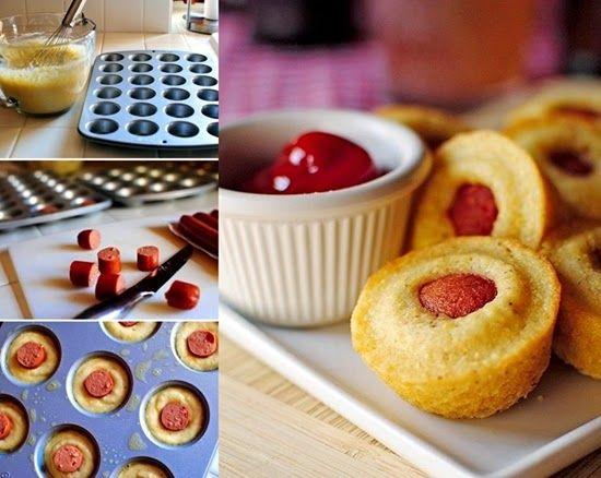 ideias servir salsichas festa bolo
