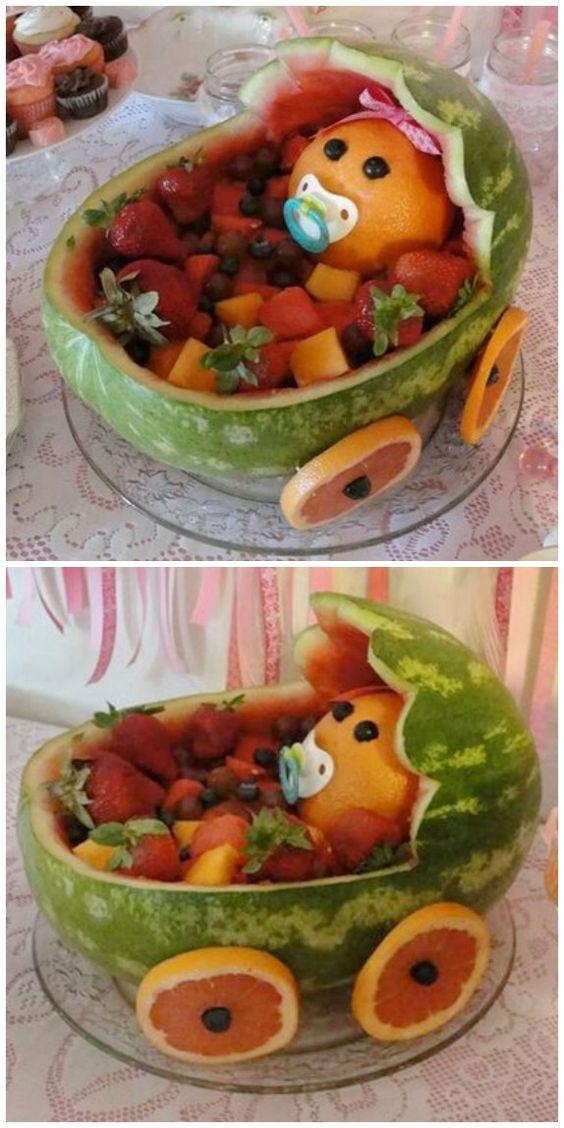 mesa fruta escultura